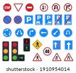 road signs. stop  parking ...   Shutterstock .eps vector #1910954014