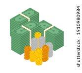 big money concept. big pile of... | Shutterstock .eps vector #1910980984