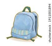 navy blue backpack bag  a... | Shutterstock . vector #1911001894