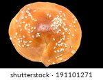 bun on a black background | Shutterstock . vector #191101271