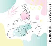 happy easter handwritten... | Shutterstock .eps vector #1911071971