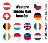 Western Europe Flag Icon Set Of ...