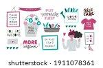 setof decorative clip arts with ... | Shutterstock .eps vector #1911078361