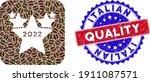 vector mosaic 2022 star hit... | Shutterstock .eps vector #1911087571