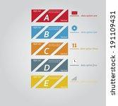 timeline design template  | Shutterstock .eps vector #191109431