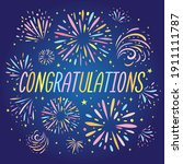 congratulations text with... | Shutterstock .eps vector #1911111787