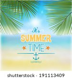 summer background   illustration | Shutterstock .eps vector #191113409