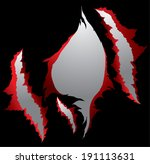 claws scratches vector   Shutterstock .eps vector #191113631