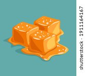 piece of salted caramel...   Shutterstock .eps vector #1911164167