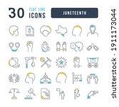 juneteenth. collection of...   Shutterstock .eps vector #1911173044