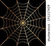 Illustration Of Gold Cobweb