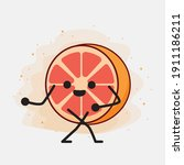 an illustration of cute orange...   Shutterstock .eps vector #1911186211