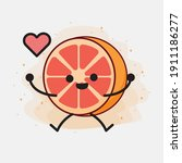 an illustration of cute orange...   Shutterstock .eps vector #1911186277