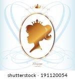 girl princess silhouette on... | Shutterstock .eps vector #191120054