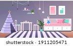 kids room interior empty no...   Shutterstock .eps vector #1911205471