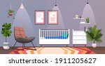 kids room interior empty no... | Shutterstock .eps vector #1911205627