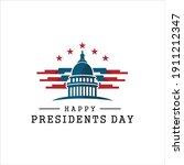 presidents day. vector... | Shutterstock .eps vector #1911212347