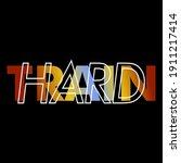 train hard  gradient abstract... | Shutterstock .eps vector #1911217414