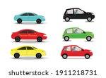 various cars vector. various... | Shutterstock .eps vector #1911218731