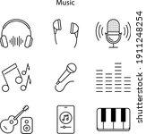 entertainment technology icons...   Shutterstock .eps vector #1911248254