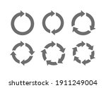 recycle icon set vector. rotate ... | Shutterstock .eps vector #1911249004