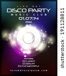 disco music party poster... | Shutterstock .eps vector #191128811