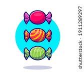 candy wrapper cartoon vector... | Shutterstock .eps vector #1911289297