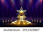 star best podium award sign ... | Shutterstock .eps vector #1911325867
