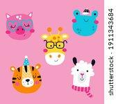 Vector Set Of Cute Animals...