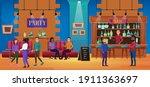 people on nightlife fun bar... | Shutterstock .eps vector #1911363697