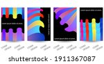abstract minimal geometric... | Shutterstock .eps vector #1911367087