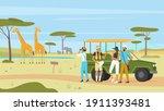 african safari nature tour...   Shutterstock .eps vector #1911393481