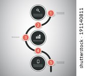 infographic concept   flow... | Shutterstock .eps vector #191140811