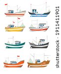 Collection Of Fishing Boats...