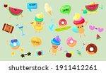 summer vacation stickers set....   Shutterstock .eps vector #1911412261