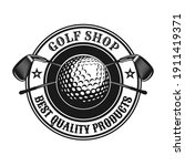 Trendy Golf Emblem Or Sticker...