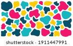 abstract liquid shapes set.... | Shutterstock .eps vector #1911447991