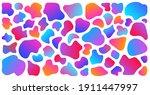 gradient abstract liquid shapes ... | Shutterstock .eps vector #1911447997