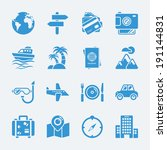 travel vacation icons. vector... | Shutterstock .eps vector #191144831
