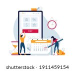 monthly payment vector... | Shutterstock .eps vector #1911459154