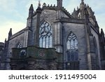 Close Up Of St. Giles Cathedral ...