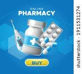 online pharmacy store.... | Shutterstock .eps vector #1911531274