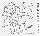 high quality map of santiago is ...