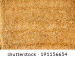 Closeup View Of Golden Straw...