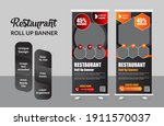 food and restaurant roll up... | Shutterstock .eps vector #1911570037
