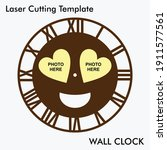 emoji photo wall clock laser... | Shutterstock .eps vector #1911577561
