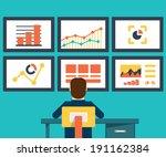 flat vector illustration of web ... | Shutterstock .eps vector #191162384