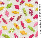 cute seamless pattern with... | Shutterstock .eps vector #191162825