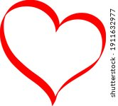 red heart   doodle style...   Shutterstock .eps vector #1911632977