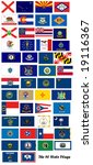 the flags of all fifty us states | Shutterstock . vector #19116367